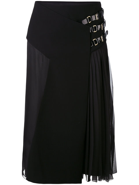 Lanvin Pleated Midi Skirt - Schwarz In Black