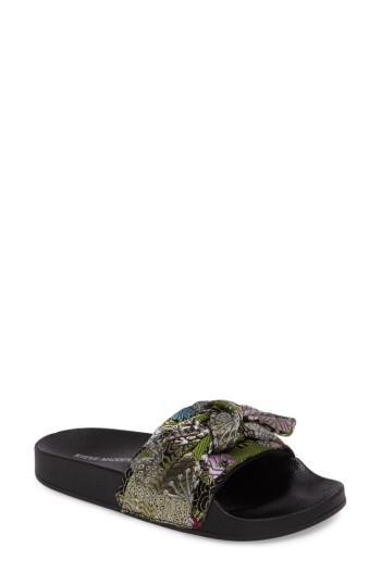 372ae4bf815 Steve Madden Silky Slide Sandal In Black Floral Multi