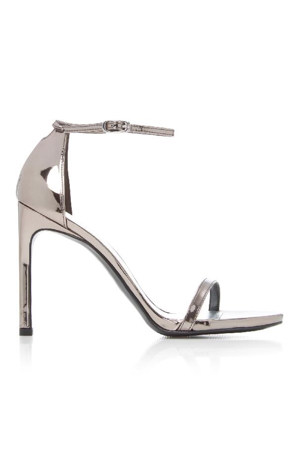 90d06a0f9 Stuart Weitzman Nudistsong Ankle Strap High-Heel Sandals In Metallic ...