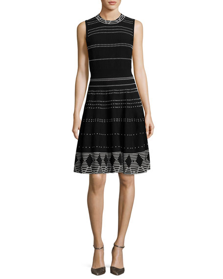 5173eedea14 Kate Spade Sleeveless Textured Fit-And-Flare Dress