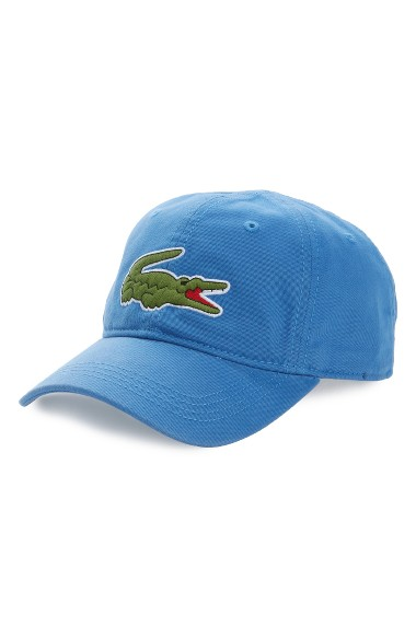 Lacoste 'big Croc' Logo Embroidered Cap In Tropical Green