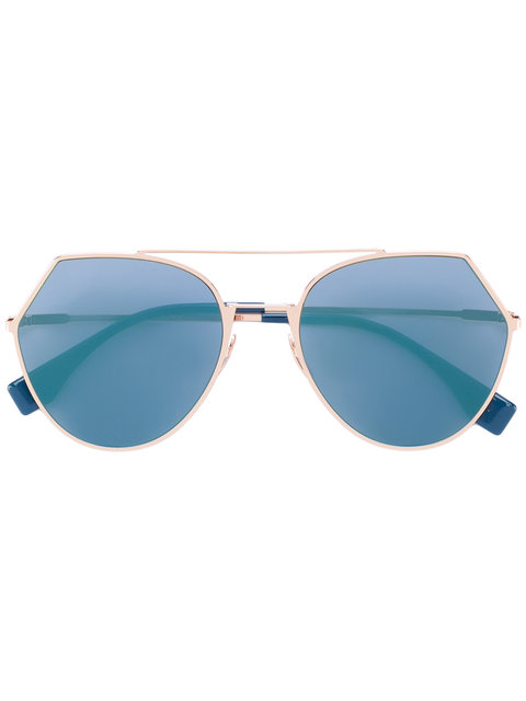 Fendi Eyewear Eyeline Sunglasses - Metallic