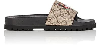 60d0acdd8 Gucci Pursuit Treck Gg Supreme Cat & Eye Slide Sandal, Multicolor In Brown