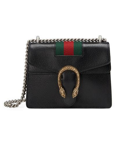 f816900be105 Gucci Dionysus Mini Textured-Leather Shoulder Bag In Black | ModeSens