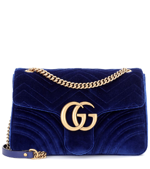 Gucci Gg Marmont 2.0 Medium Quilted Shoulder Bag, <Font><Font>Cobalt</Font></Font> In Blue