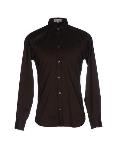 Paul & Joe Solid Color Shirt In Dark Brown