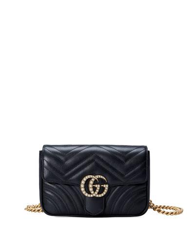 de30ce1c73c7 Gucci Marmont 2.0 Imitation Pearl Logo Quilted Leather Belt Bag In Nero  Black