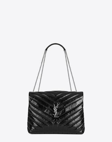 538d6747308 Saint Laurent Medium Loulou Chain Bag In Black