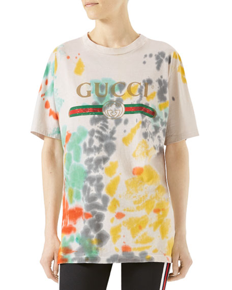921baac10 Gucci Printed Tie-Dyed Cotton-Jersey T-Shirt | ModeSens