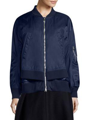8f054ef81 Moncler Aralia Down Bomber Jacket In  775 Navy