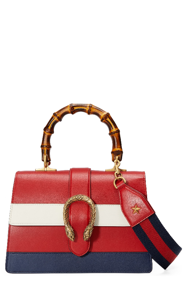 b1cc3c78594 Gucci Small Dionysus Top Handle Leather Shoulder Bag - Red In Multicoloured