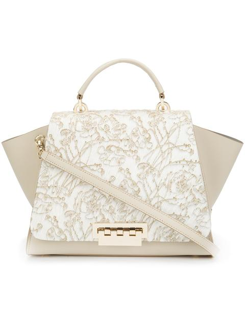 Zac Zac Posen Eartha Iconic Satchel In Light Beige Modesens