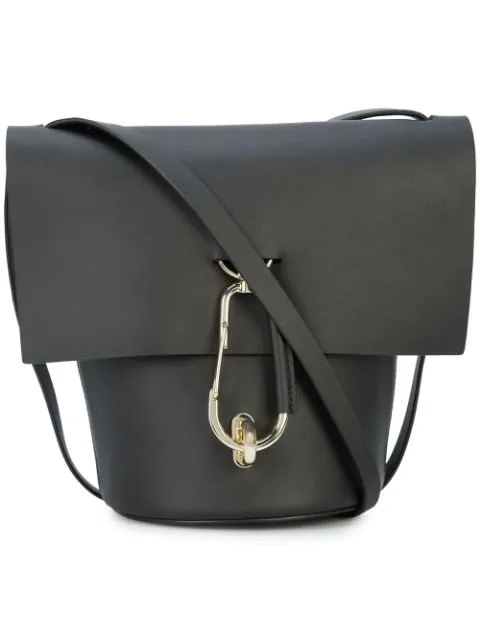 Zac Zac Posen Belay Basic Leather Shoulder Bag In Black001