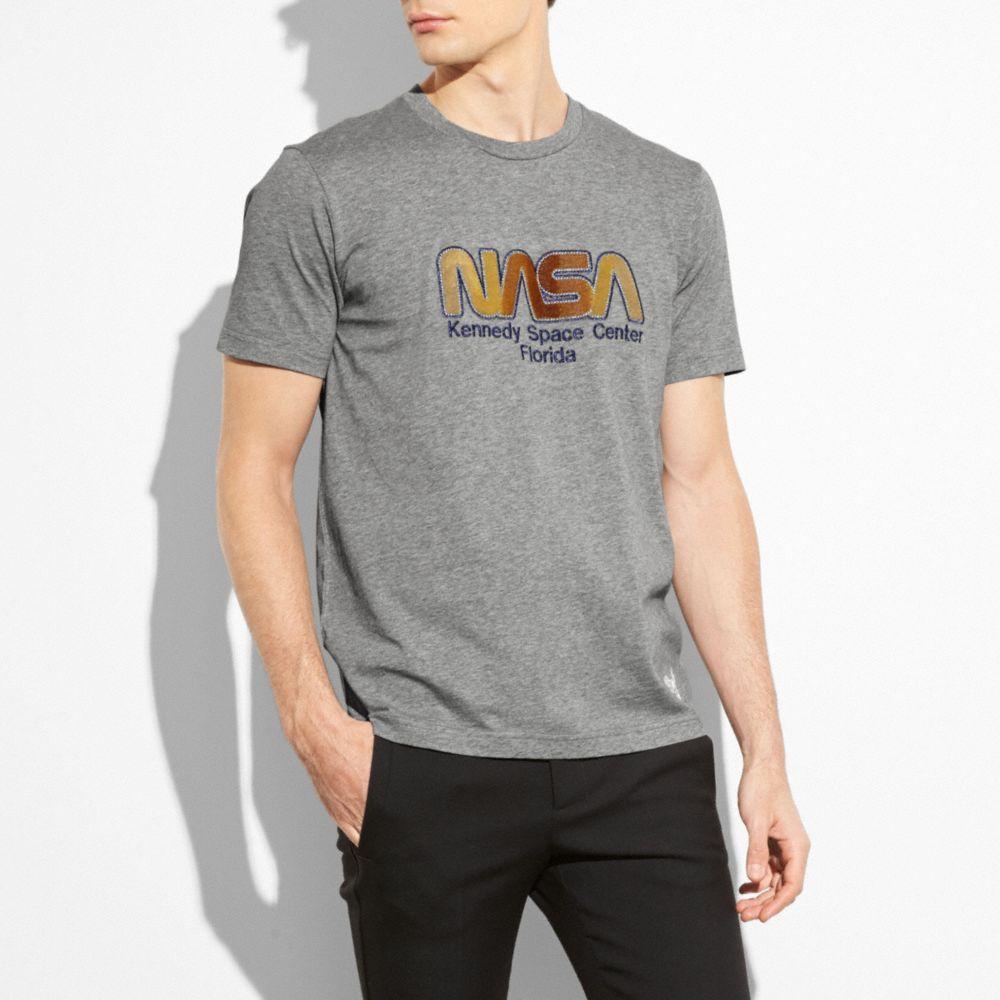 e4eb15e6 Coach Nasa Tee Shirt In Heather Grey | ModeSens