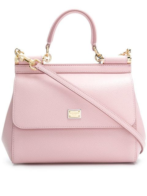 Dolce & Gabbana Sicily Small Leather Cross-Body Bag In Pink