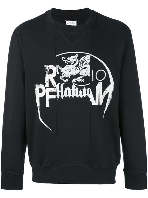 Maison Margiela Sweatshirts In Black