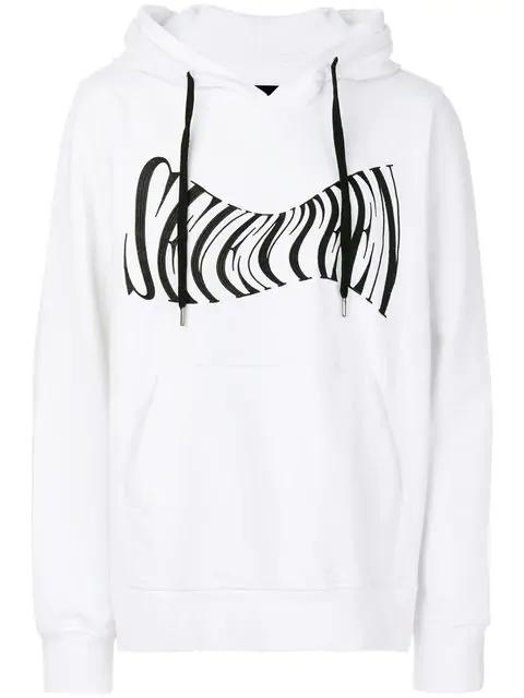 Ktz Seventeen Embroidered Hoodie - White