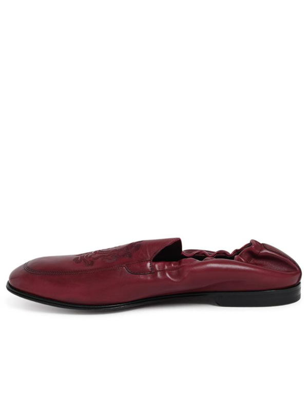 Dolce & Gabbana Men's Logo Calf Leather Slippers In Brdx