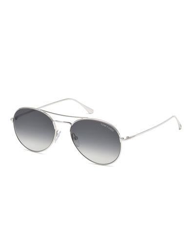b74863a932a4 Tom Ford Ace Metal Pilot Sunglasses