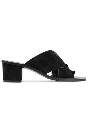Atp Atelier Felicia Suede Sandals In Black