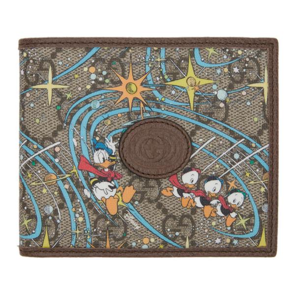 Gucci X Disney Donald Duck Gg Supreme Bi-fold Wallet In 8679 Be.eb.