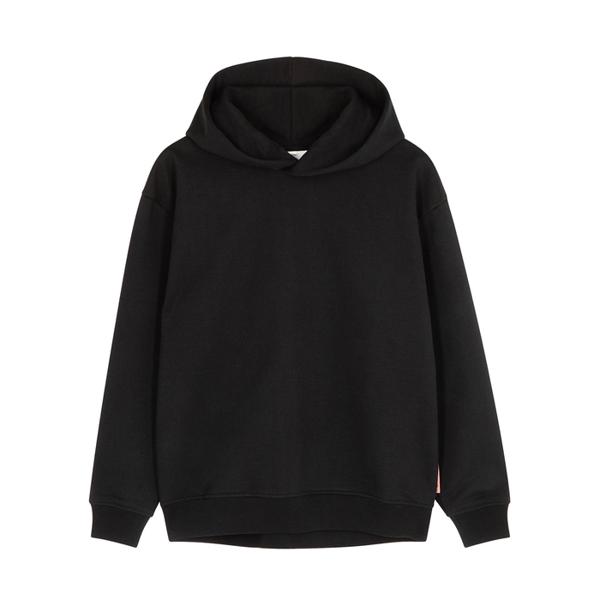 Acne Studios Black Hooded Cotton-blend Sweatshirt