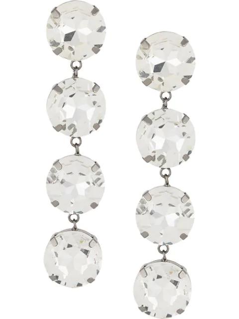 Christopher Kane Crystal Drop Earrings In Silver