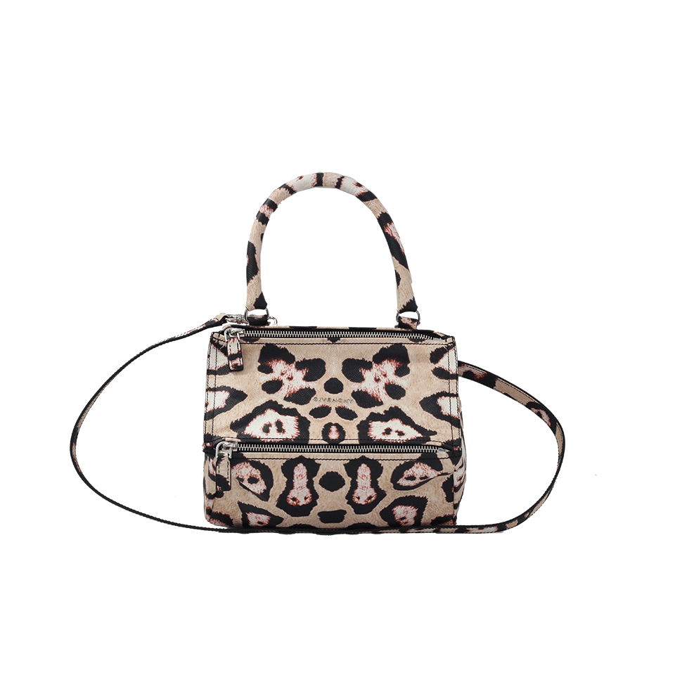 Givenchy Small Leopard Pandora In Multi