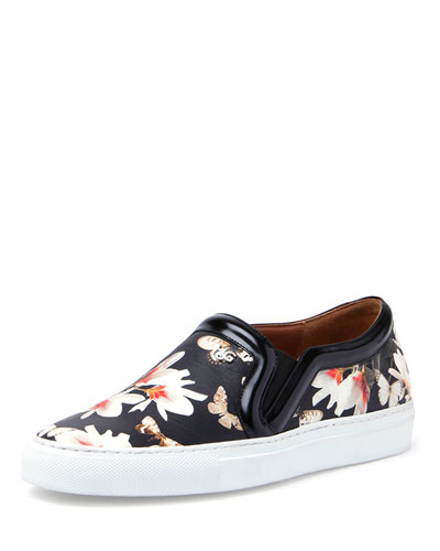 8a83d54261 Givenchy Magnolia Nappa Leather Slip On Sneakers