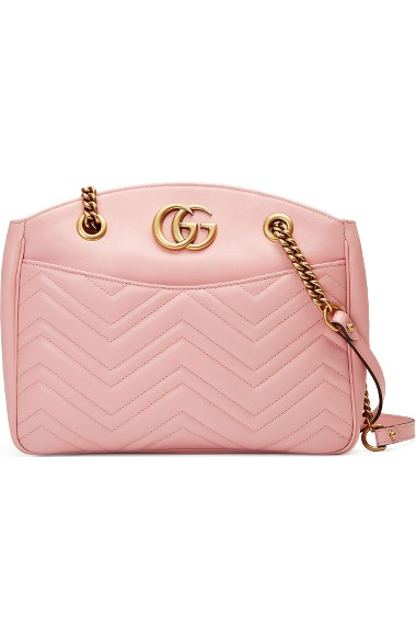 2ac5f6b8af267e Gucci Gg Marmont Matelasse Leather Shoulder Bag - Pink In Perfect Pink
