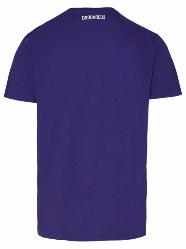 Dsquared2 Purple Cotton T-shirt In Violet