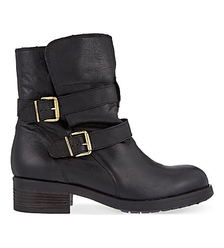 Kurt Geiger London Richmond Leather Ankle Boots In Black