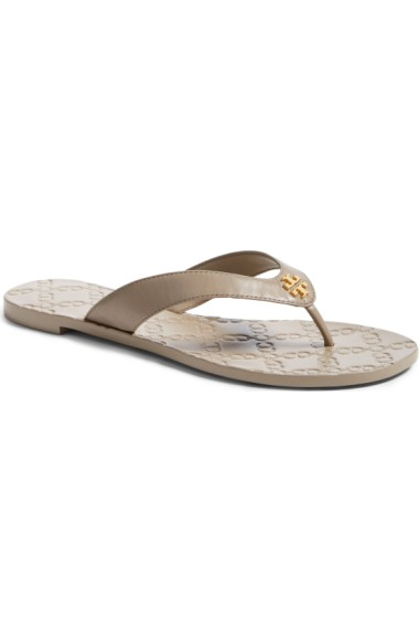 416730e15 Tory Burch Monroe Flat Thong Sandal, French Grey In French Gray ...