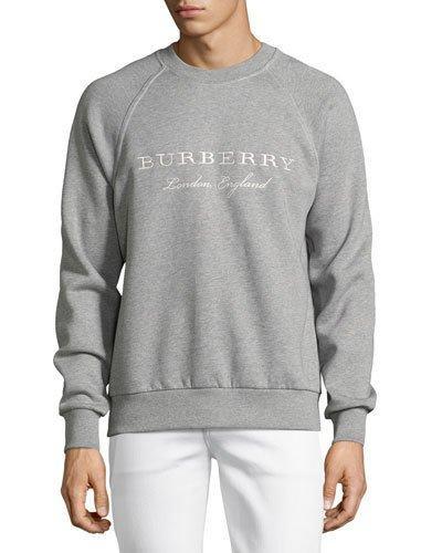 Burberry Taydon Sweatshirt In Pale Grey Melangegrigio