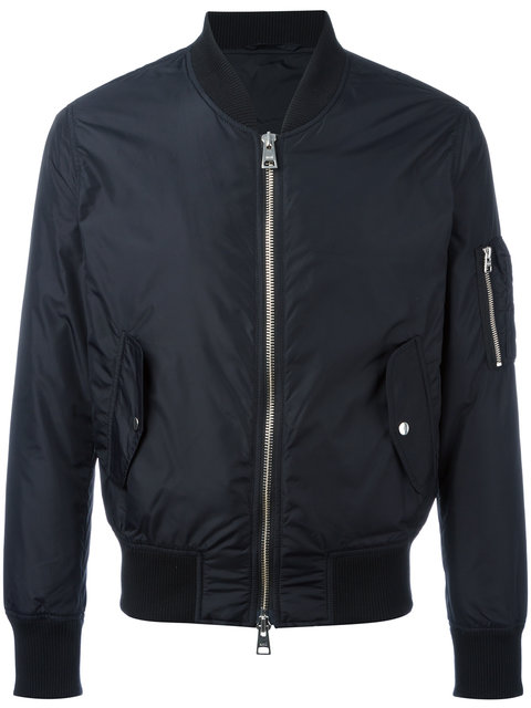 Ami Alexandre Mattiussi Zip-Through Technical Bomber Jacket In Black
