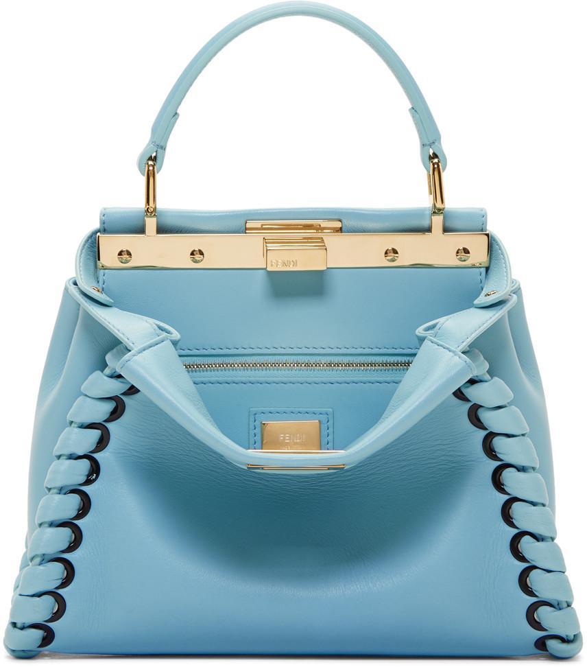 2fa3c17b15 Fendi Blue Mini Peekaboo Bag
