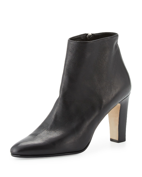 Manolo Blahnik Insopo Leather 90Mm Ankle Boot, Black In Brown