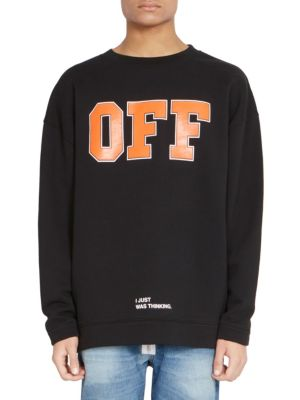 ebc6a76f4 Off-White Off Graphic Crewneck Sweatshirt In Black | ModeSens