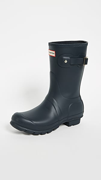 Hunter Original Short Boots In Navy