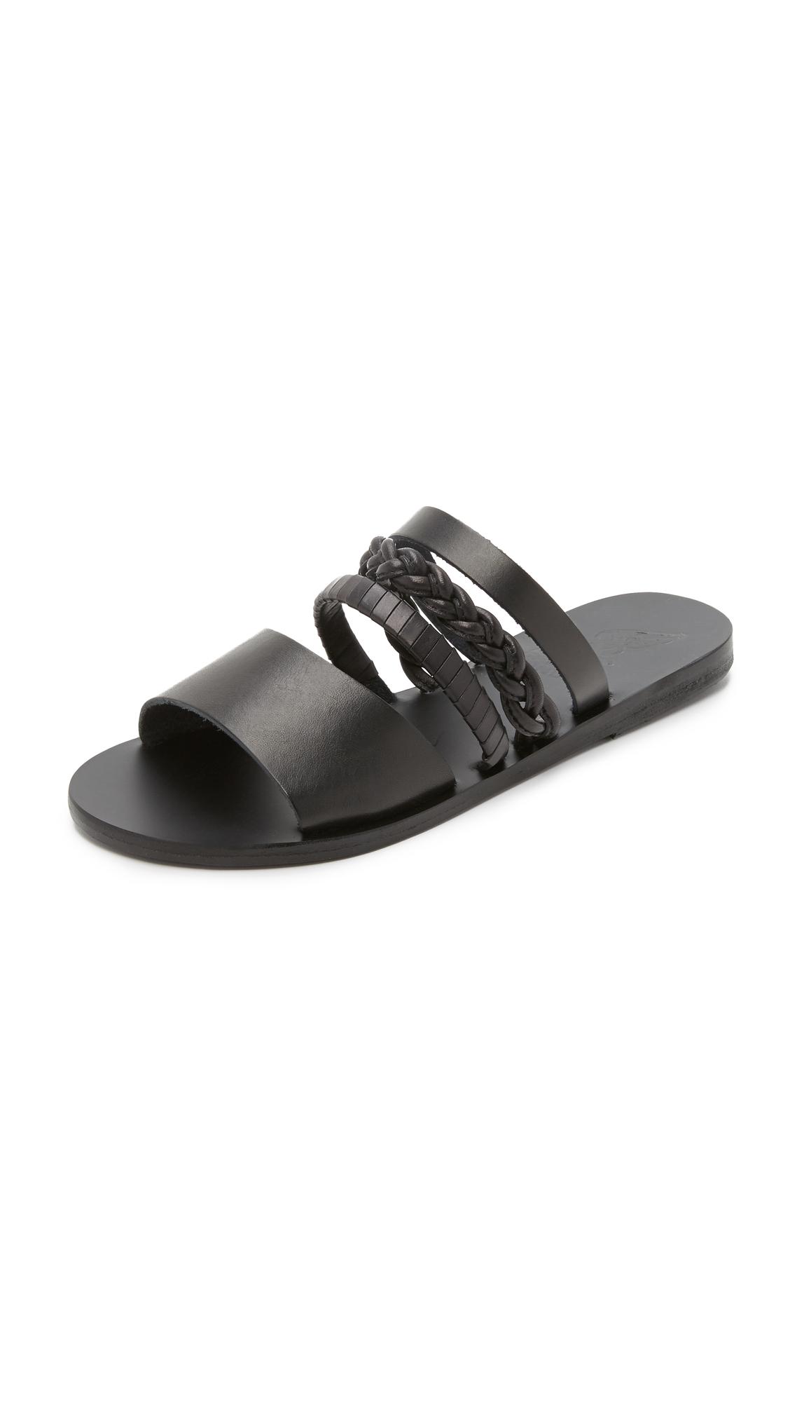 Ancient Greek Sandals Helene Gladiator Sandals In Black