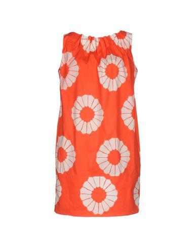 Blumarine Short Dress In Orange