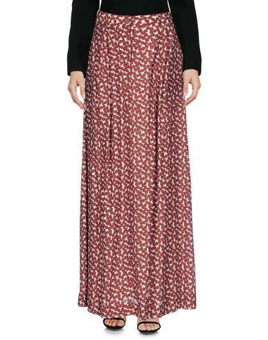 Essentiel Antwerp Long Skirts In Brick Red