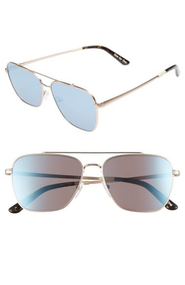 Toms Irwin 58Mm Aviator Sunglasses - Satin Gold