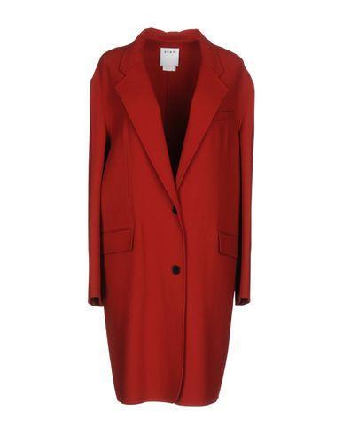 Dkny Overcoats In Brick Red