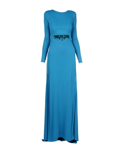 Pinko Long Dresses In Turquoise