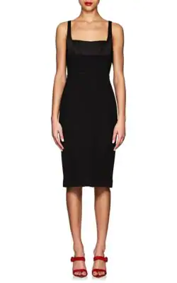 Narciso Rodriguez Sleeveless Bustier Sheath Dress, Black