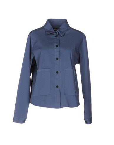 Barena Venezia Solid Color Shirts & Blouses In Slate Blue