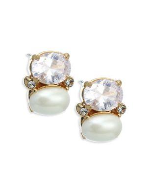 Kate Spade Shine On Faux Pearl Stud Earrings In Cream Multi