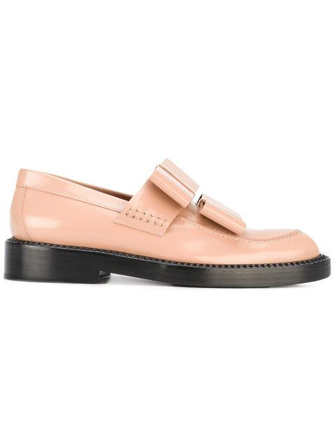 Marni Oversized Bow Detail Loafers - Neutrals