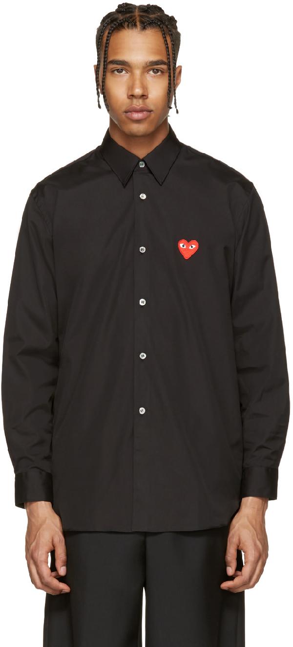 Comme Des GarÇOns Play Comme Des Garcons Play Black Heart Patch Shirt